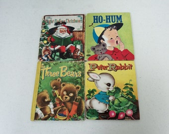 Lot of 4 Vintage Whitman TELL-A-TALE Hard Cover Children's Books. 5B-1741