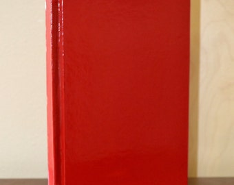 Red Vinyl Blank Journal 220pgs