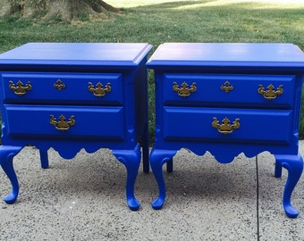 SOLD! Vintage french End Tables/ Nightstands