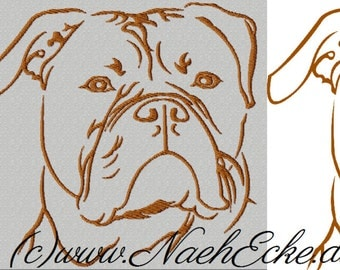 Embroidery American Bulldog 1