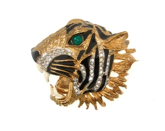 Vintage Tiger Brooch by Sphinx