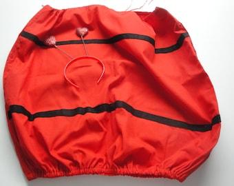 Ladybug Costume - Size 6-8 - Heart Antennae Included