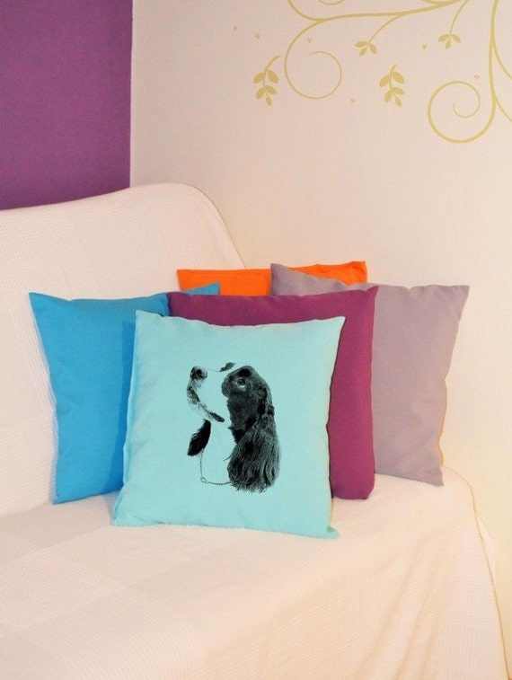 englische cocker spaniel kissen mit hund heimtextilien. Black Bedroom Furniture Sets. Home Design Ideas