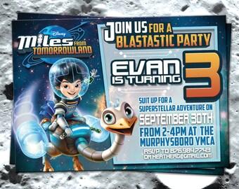 Miles from Tomorrowland Birthday Invitation (digital file)