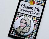 Princess Hijabi Muslim Button in Yellow