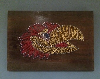 KU Jayhawk Nail String Art