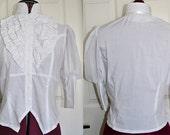 Small Victorian Chiffon Sleeve Blouse - Ready to Ship