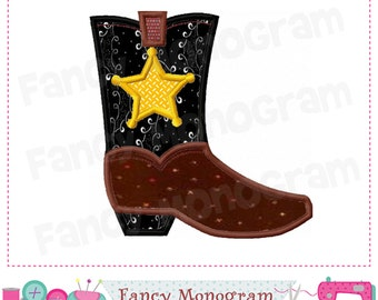 Cowboy Boot applique,Cowboy Boot design,Cowboy design,Cowboy Boot,Cowboy applique,Western design.-right