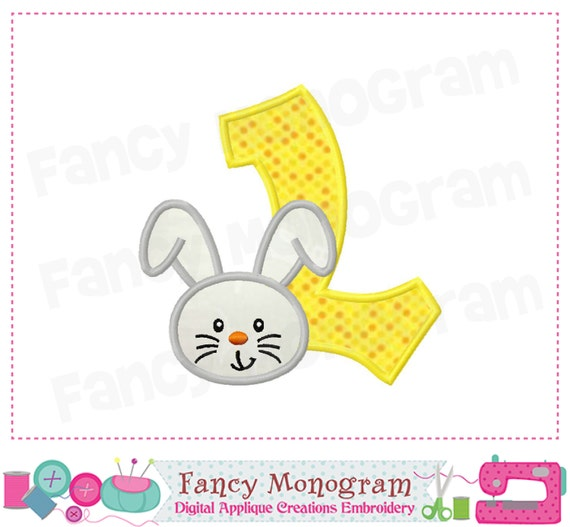 Easter Bunny Monogram L Applique,Letter L Applique With Easter
