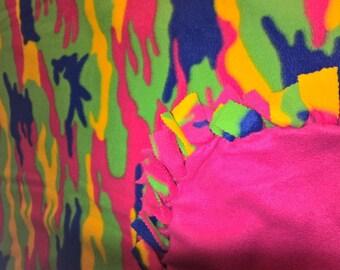 Colorful Girlie Camo Print