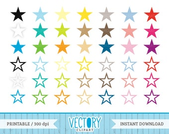 42 Star Clipart in Multiple Colors, Commercial Free Star Images in Large PNG Files, Star Clip Art With Transparent Background by Vectory