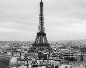 Eiffel Tower Photo Print, Paris Black and white, Eiffel Tower print, Eiffel Tower photo, Eiffel Tower decor, Paris photo, new home gift