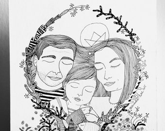 Family custom portrait