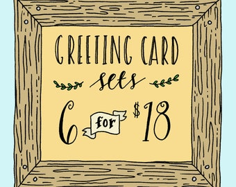 Greeting Card Set, Set of Greeting Cards, Choose Six Cards