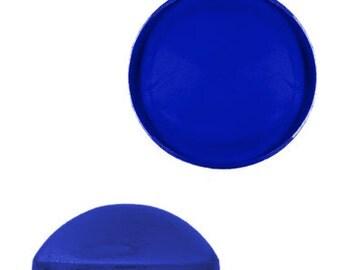 11mm Round Lucite Cabochon - Sapphire (144pcs)