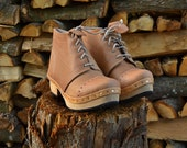 CLOG WORK BOOTS. Portuguese Genuine Clog Boots. Totally handmade. Genuine Leather and Alderwood.