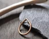 Teardrop, Raindrop Bronze Ring