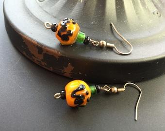 Pumpkin Halloween Earrings