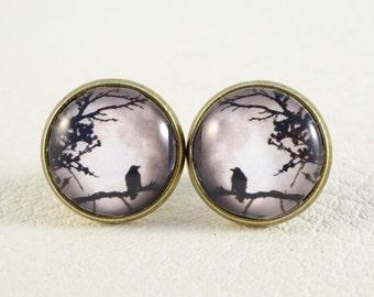 """Earrings """"Moon Raven"""""""