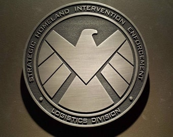 Marvels Agents of SHIELD comic inspired plaque Strategic Homeland Intervention Enforcement Logistics Division