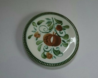 Hand Painted Boch Side Plates from Belgium.  1960s Argenteuil Pattern