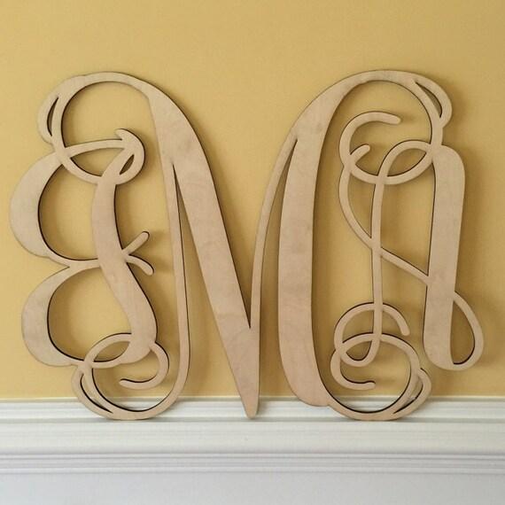 Initial Home Decor: Wood Monogram, Home Decor, Wall Art, Initial Monogram