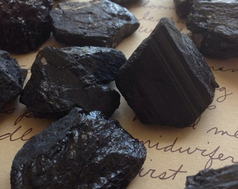 Raw Black Tourmaline Stones-Raw Black Tourmaline- Protection Stone  -Raw Stones