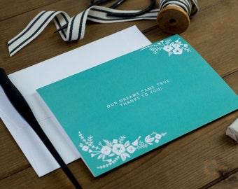 A Pretty Floral Wedding Thank-you Card
