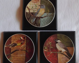 Bird Wall Hangings - Set of 3