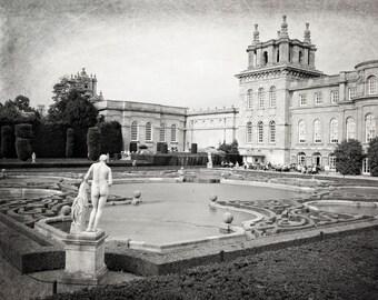 English Garden Photography, Blenheim Palace, England Photo, Black and White, Fine Art Print, Travel Photo, Europe, Home Decor, Wall Art