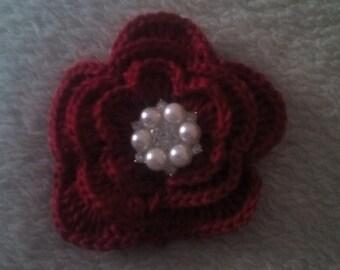 crochet flower, 1 crochet flowers, appliques, craft supplies, sewing supplies