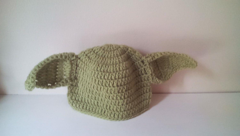 Crochet Yoda hat baby Yoda hat newborn Yoda hat Yoda hat