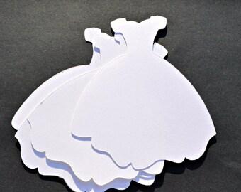Wedding Dress Die Cut Set of 4, Sweet 16 Dress, Fairy Tale Wedding Dress Die Cut, Bridal Shower Invitation Ball Gown Party Favor