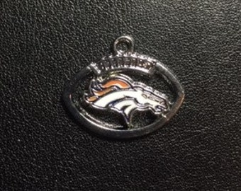 Denver Broncos Football Charm