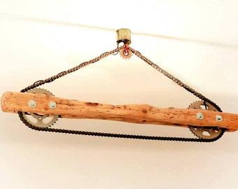 handmade wooden celing light