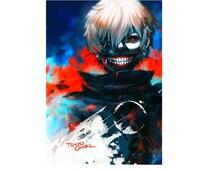 Tokyo Ghoul Poster Kaneki Rize Touka anime Art Silk Wall huge Poster C035(6)