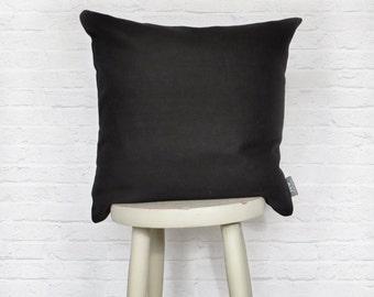 Black Linen Cushion Mono Collection