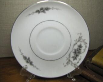 Gildhar Ltd. Fine Porcelain China Saucer - Elsinore - Gray Flowers