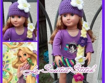 Rapunzel hat for American Girl doll