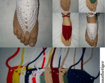 Set of 2 Adult Crocheted Barefoot Sandals