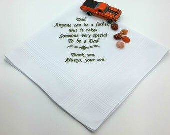 Handkerchief, Hanky for Dad, with a Sentimental Verse, from your Son.