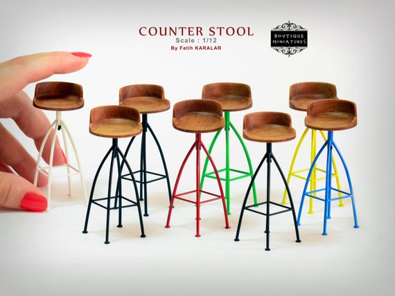 miniature counter stool wooden rotating bar revolving stool
