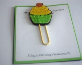 Felt Yellow Cupcake Planner Clip