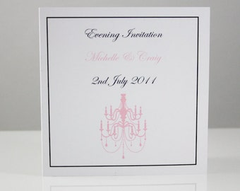 Chandelier Wedding Invitations with Border