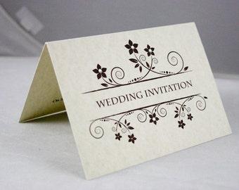 Vintage Style Diamond & Pearls Wedding Invitation