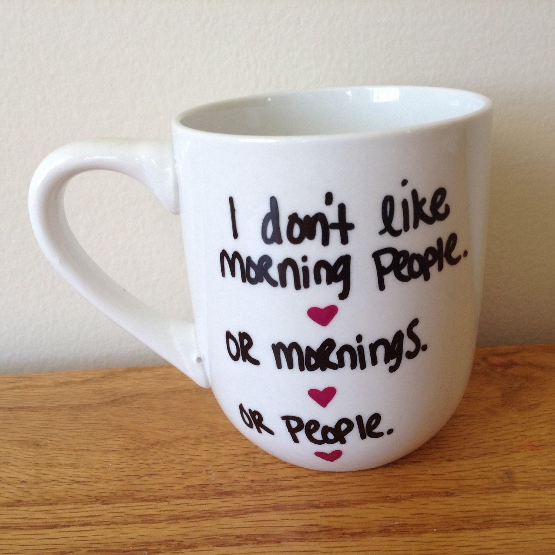 Cute Mugs Funny Mugs Hand Painted Mug Gift Idea by ...