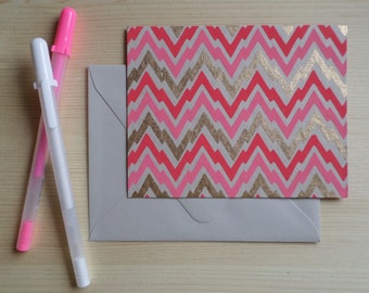 Pink Thunder - Blank Stationary Set of 8