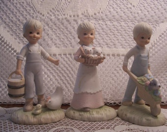 Three Lefton Christopher Collection Figurines