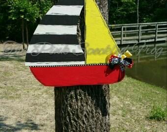 Sailboat door hanger