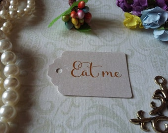shimmer pearl tag Eat me Tags - Alice in Wonderland Eat me Tags - Tea Party or Wedding Tags - Set of 25 to 300 pieces Mini tag